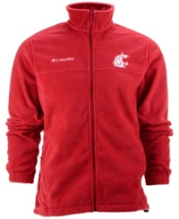 Columbia Men's Washington State Cougars Flanker Full Zip Jacket Red