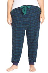 Make Model Flannel Jogger Pants Plus Size Green Pinecone Kimberly Plaid