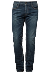 Japan Rags Straight Leg Jeans Blue Blue Denim