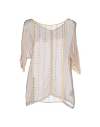 Fairly Shirts Blouses Women Beige