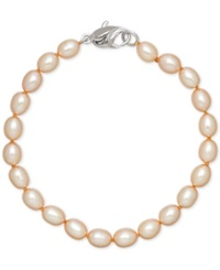 Honora Style Champagne Cultured Freshwater Pearl Bracelet In Sterling Silver 7 8Mm