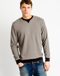 Only And Sons Mens Jacquard Sweatshirt Grey