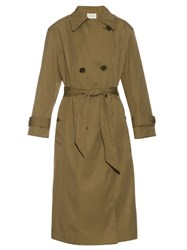 Etoile Isabel Marant Double Breasted Long Length Trench Coat Khaki