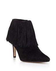 Sam Edelman Kandice Fringed Suede Ankle Booties Black