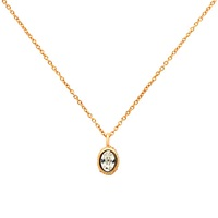 Cachet Oval Mini Pendant Necklace Rose Gold
