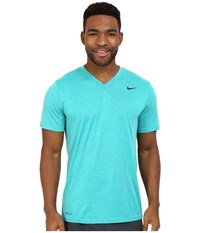Nike Legend 2.0 Short Sleeve V Neck Tee Teal Charge Men's T Shirt Blue
