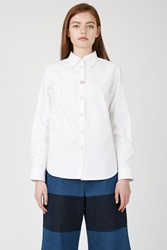 Fleamadonna Jewel Oxford Button Down Shirt White