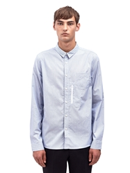 Pam P.A.M Mens Striped Shirt With Zip Pocket