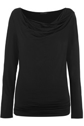 Donna Karan Draped Stretch Jersey Top