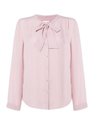 Linea Pussy Bow Blouse Pink
