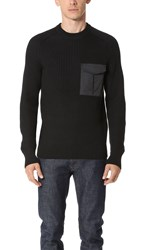 Rag And Bone Elijah Crew Sweater Black