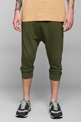 Koto Drop Inseam Cropped Pant Olive