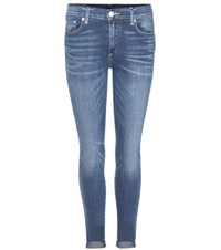 True Religion Halle Mid Rise Skinny Jeans Blue