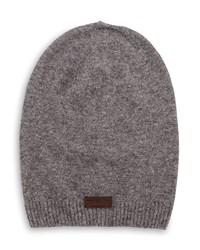 True Religion Ribbed Slouchy Beanie Hat Factory Gray