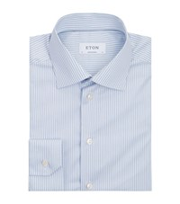Eton Rope Stripe Shirt Male Blue