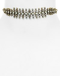 Sorrelli Crystal Choker Necklace 12 Antique Gold