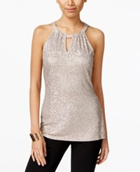 Inc International Concepts Sequin Halter Top Only At Macy's Gold