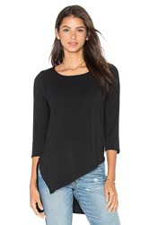 Heather Angles Hi Lo Asymmetric Tunic Black