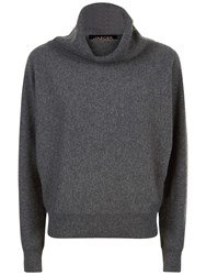 Jaeger Cashmere Slouchy Sweater Charcoal