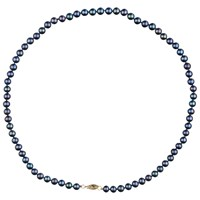 A B Davis Freshwater Pearl Necklace Blue