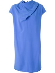 Nina Ricci Tie Knot Detail Dress Blue
