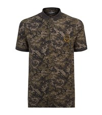 Dolce And Gabbana Camouflage Polo Shirt Male Forest