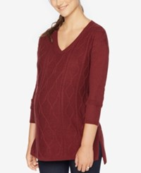 Motherhood Maternity V Neck Sweater Zinfandel