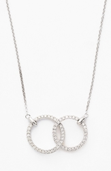 Bony Levy Double Diamond Circle Pendant Necklace Nordstrom Exclusive White Gold