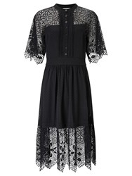 Alice By Temperley Somerset Lace And Spot Dress Black