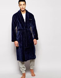 Calvin Klein Terry Dressing Gown Robe Blue