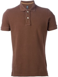 Eleventy Classic Polo Shirt Brown