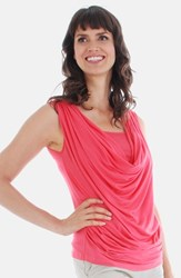 Women's Everly Grey 'Carla' Drape Maternity Top