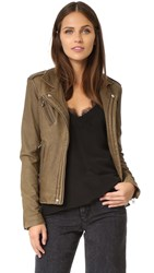 Iro Han Leather Jacket Dark Khaki