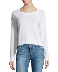 Christopher Fischer Cashmere Raglan High Low Sweater Ice White