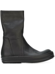 Rick Owens Side Zip Boots Black
