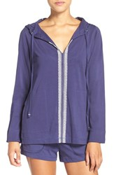 Lucky Brand Women's Cotton Blend Lounge Hoodie Twilight