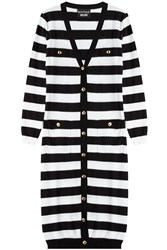 Boutique Moschino Cotton Striped Long Cardigan Stripes