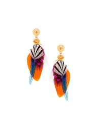 Gas Bijoux Small 'Sao' Feather Earrings Metallic