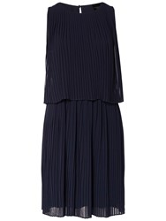 Selected Femme Muki Pleated Dress Dark Sapphire