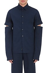 Hood By Air Men's Drill Work Shirt Navy