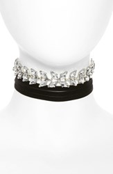 Women's Bp. Crystal And Velvet Wrap Choker Set