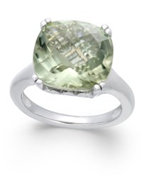 Macy's Green Amethyst Ring 8 1 2 Ct. T.W. In Sterling Silver