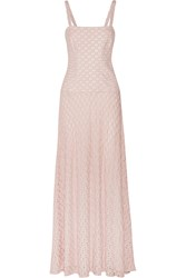 Missoni Convertible Crochet Knit Maxi Dress Pink