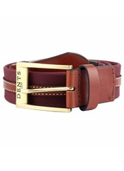 Dents Formal Cotton Belt Burgundy
