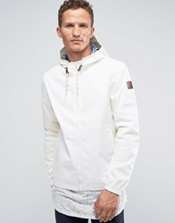 Element Alder Hooded Rain Jacket White