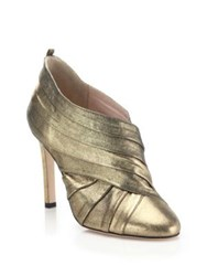 Sarah Jessica Parker Echo Metallic Leather Booties Gold