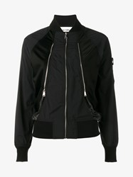 Paco Rabanne Mesh Panel Bomber Jacket Black