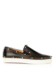 Christian Louboutin Cador Embellished Leather Trainers