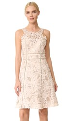 Marchesa Textured Cocktail Dress Blush