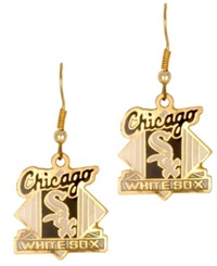 Aminco Chicago White Sox Logo Drop Earrings Team Color